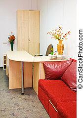 belső, közül, hivatal, szoba