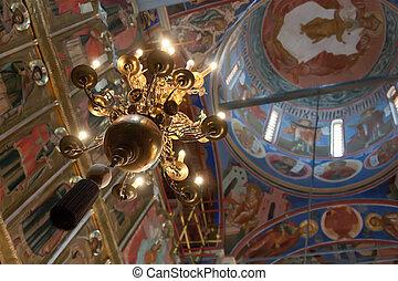 belső, közül, orthodox templom