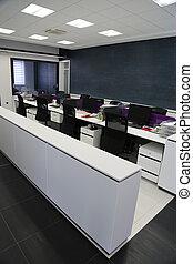 belső, modern, hivatal