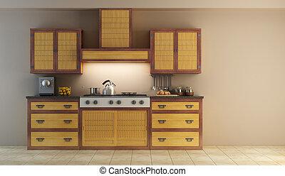 belső, modern, konyha