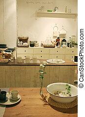 belső, otthon, meglehetősen, konyha