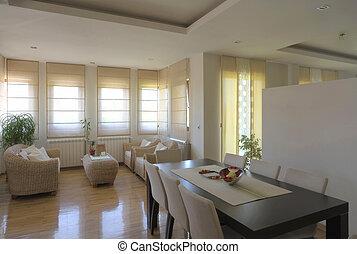 belső, otthon, modern