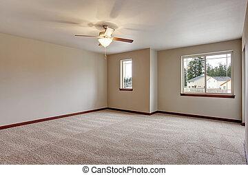 belső, szőnyeg, szoba, üres, emelet