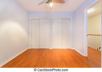 belső tervezés, üres, hálószoba