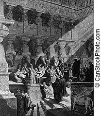 belshazzar's, banquete