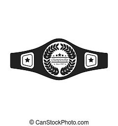 belt boxing sport championship winner fight award vector...