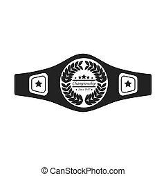 belt boxing sport championship winner fight award vector ...