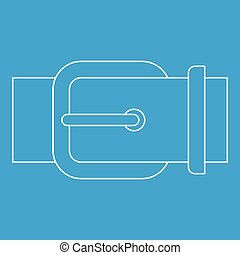Belt buckle icon, outline style