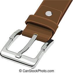 Illustration set of belt buckle in vector.