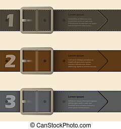 Belt buckle infographic design with light background