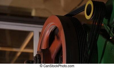 belt drive on the machine