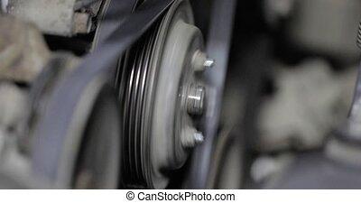belt drive rotation