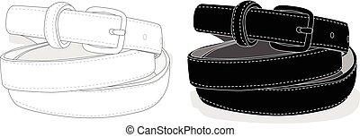 Belt fashion set. Vector.