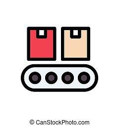 belt flat color icon
