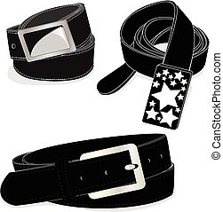 Belt illustration on white