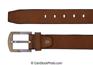 belt - Man's belt on white background