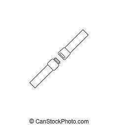 belt., vecteur, sécurité, icône