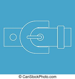 Belt with buckle icon, outline style