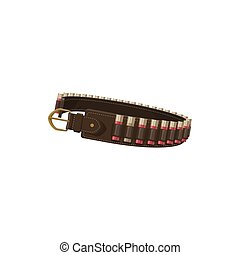 Belt with bullets icon, hunting equipment - Hunting ...