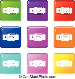 Belt with square buckle set 9