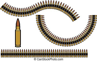 belts), (gun, balle, ceinture