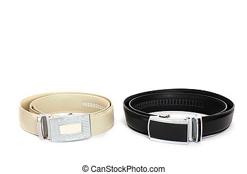Belts on a white background