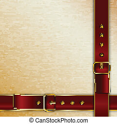 Belts with buckles background for cover
