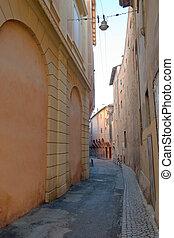belvárosi, keskeny utca, középkori