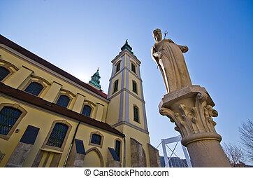 Belvarosi plebaniatemplom church in Budapest - Hungary