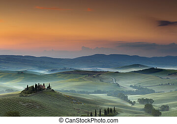 belvedere, 에서, tuscany