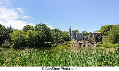 belvedere, castillo, en, parque central