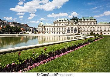 belvedere, es, un, edificio histórico, complejo, en, viena