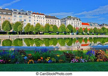 belvedere, kleingarten, in, wien, österreich