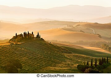 Belvedere of Tuscany - Scenic view of typical Tuscany...