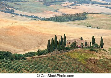 Belvedere of Tuscany - Scenic view of typical Tuscany ...