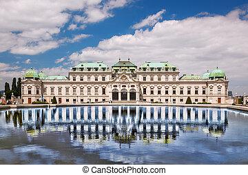 belvedere palace, alatt, bécs, ausztria