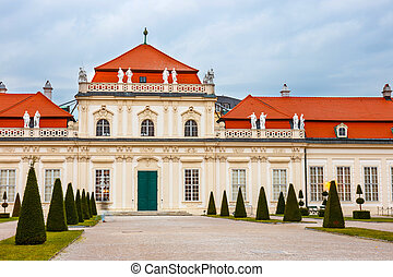 Belvedere palace and garden in Vienna, Austria