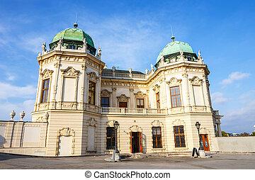 Belvedere palace and garden in Vienna, Austria