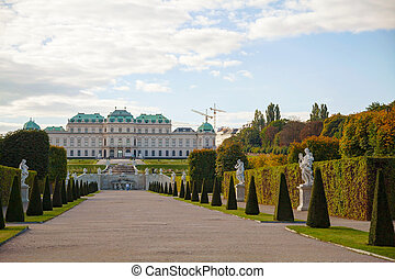 Belvedere palace in Vienna, Austria on a sunny day