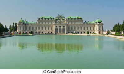 """belvedere palace, vienna, austria, timelapse, 4k"""