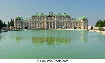 """""""belvedere palace, vienna, austria, timelapse, zoom in, 4k"""""""