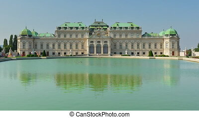 """""""belvedere palace, vienna, austria, timelapse, zoom out, 4k"""""""