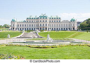 Belvedere Palace, Wien, Austria - Exterior of Belvedere...