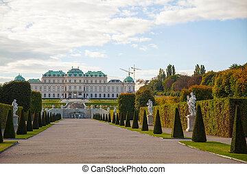 belvedere palast, in, wien, österreich