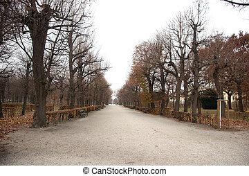 Belvedere park near palace