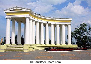 Belvedere with white columns