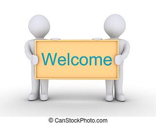 bem-vindo, mensagem