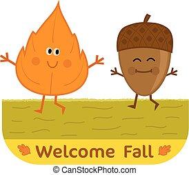 bem-vindo, outono