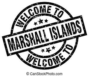 bem-vindo, para, ilhas marshall, pretas, selo