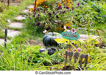 bem-vindo, para, natureza